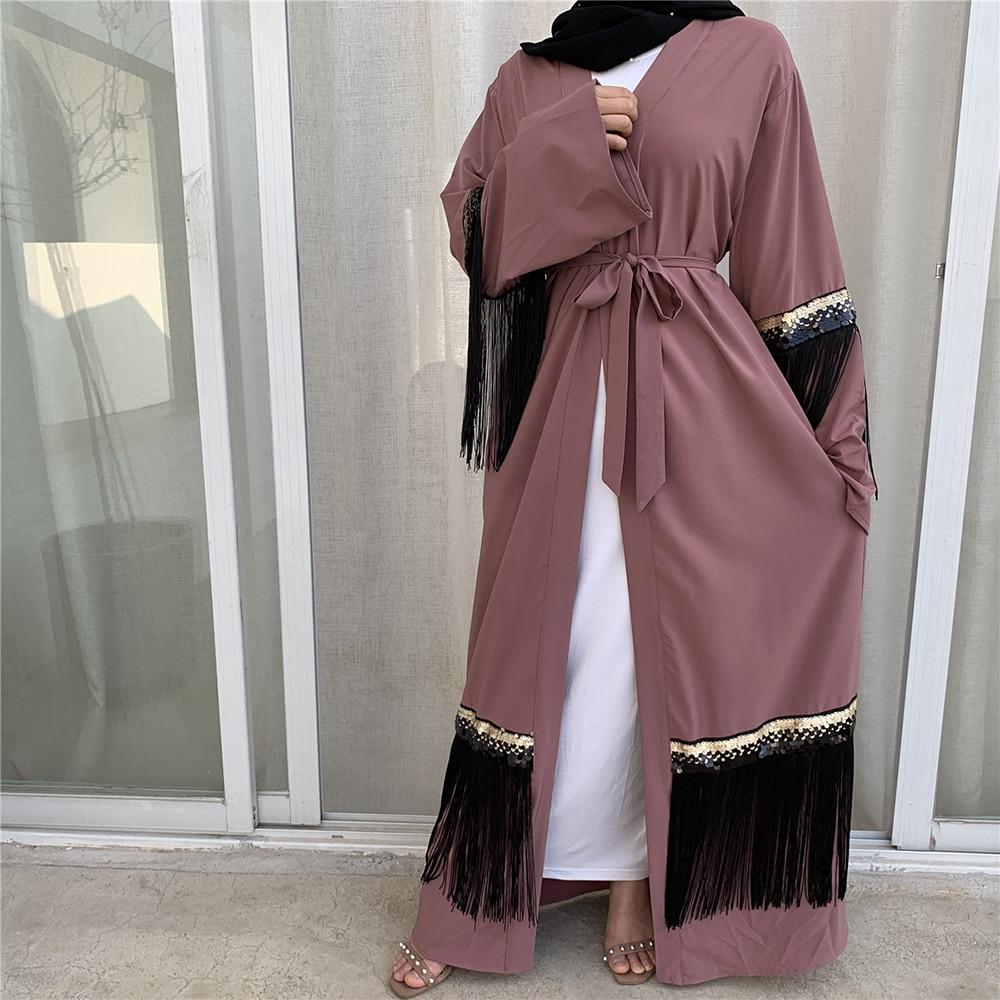 Abaya Kimono Hijab Muçulmano Vestido Feminino Kaftan Caftan Marocain Turco Roupas Islâmicas Dubai Ramadan Vestidos Islam Robe Musulman