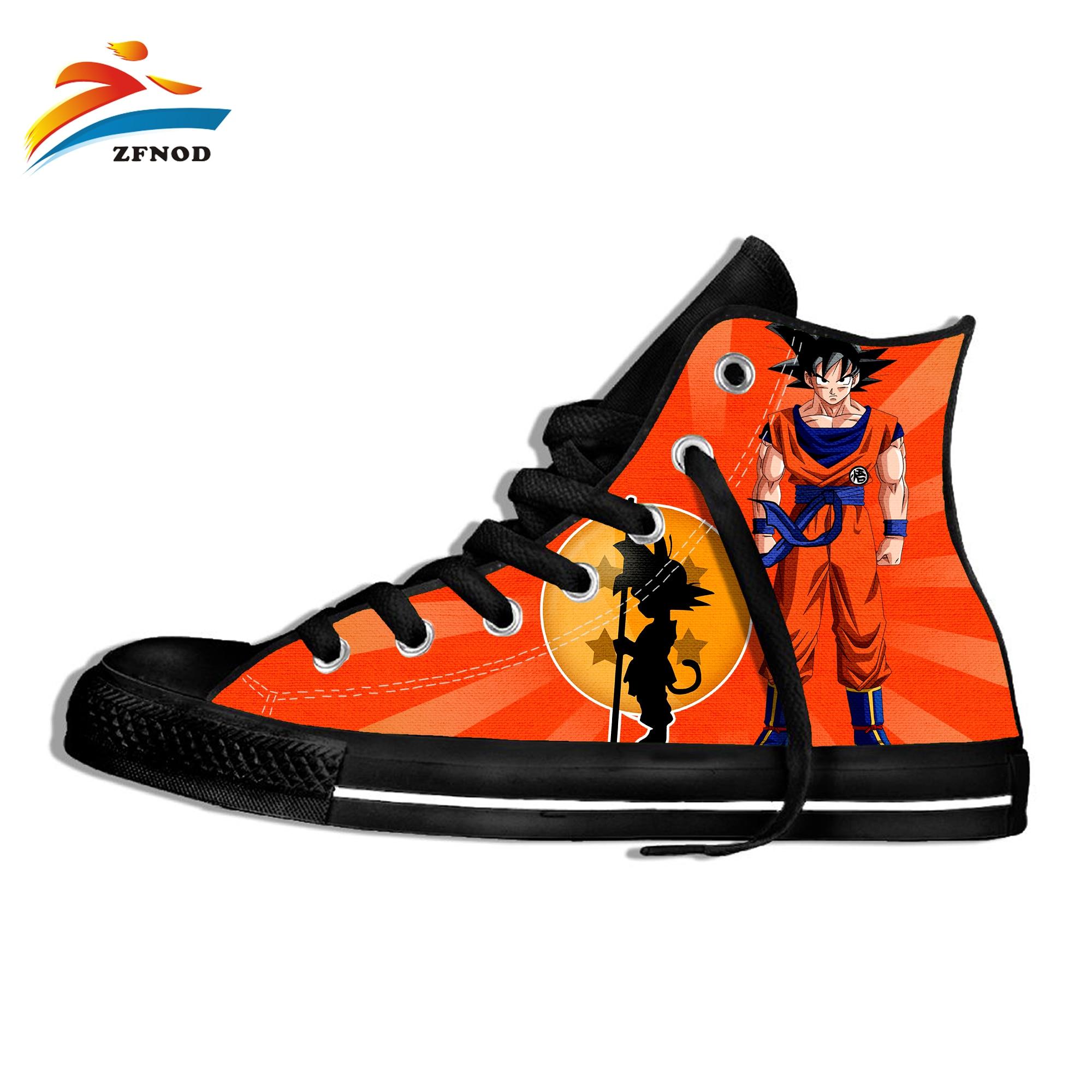 Dragon Ball Shoes 3D Printed Anime Divertente Hip Hop 3D Printing Harajuku Goku Summer Hi Tops Vulcanized Shoes