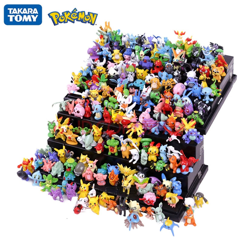 144Pcs Tomy Different Styles Pokemon Figures Model Collection 2-3cm Pokémon Pikachu Anime Figure Toys Dolls Child Birthday Gift