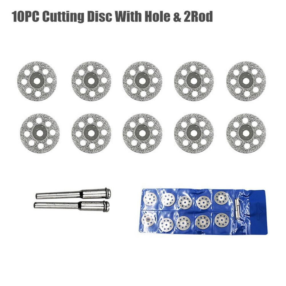 Ruedas de corte de diamante de 22mm herramienta rotativa de Dremel troqueladora disco de corte de Metal para baldosa de mármol de vidrio o granito