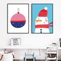 Peinture sur toile de la serie de noel  dessin anime  affiche dart mural  images de chambre a coucher  salon  decoration de maison nordique