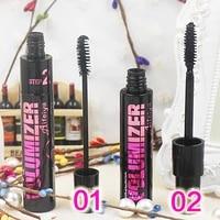 double use with 2 brushes black eyelash mascara curling thick slender waterproof women makeup mascara lasting cosmetics tslm1