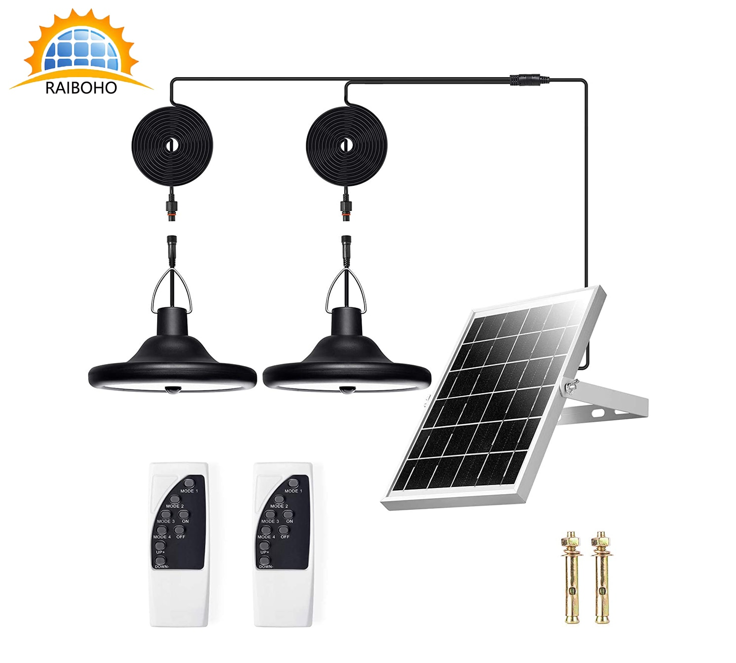 أضواء قلادة الشمسية 1000 لومينز السوبر مشرق أضواء الشمسية كشافات تعمل بالطاقة الشمسية للهواء الطلق مع كابل 32.8FT وأضواء الطاقة الشمسية 112 LED