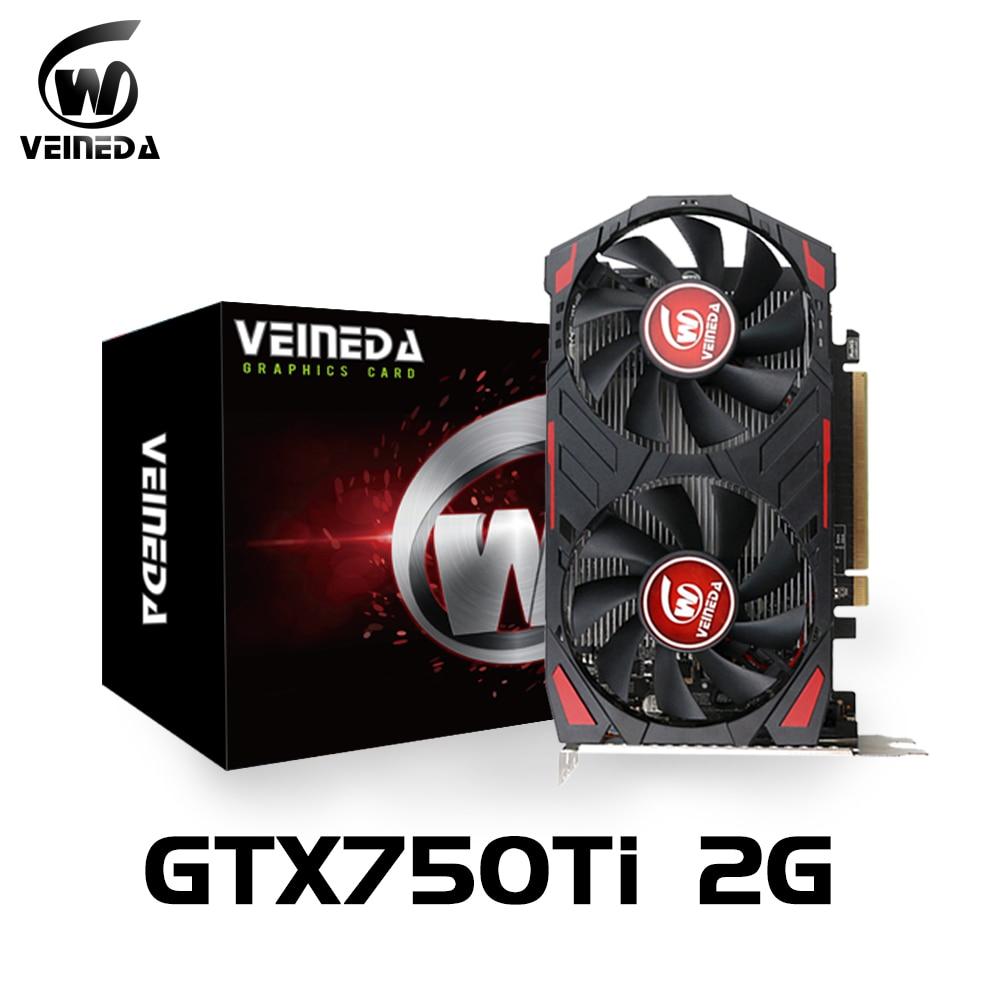 Video Cardgtx 750Ti 2GB 128Bit GDDR5 Graphics Cards VGA  GTX 750Ti  2gb Desktop For nVIDIA Geforce Games