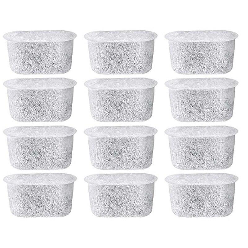 Paquete de 12 filtros de agua de carbón para Cuisinart-Elimina el cloro, los olores del agua para las máquinas de café Cuisinart
