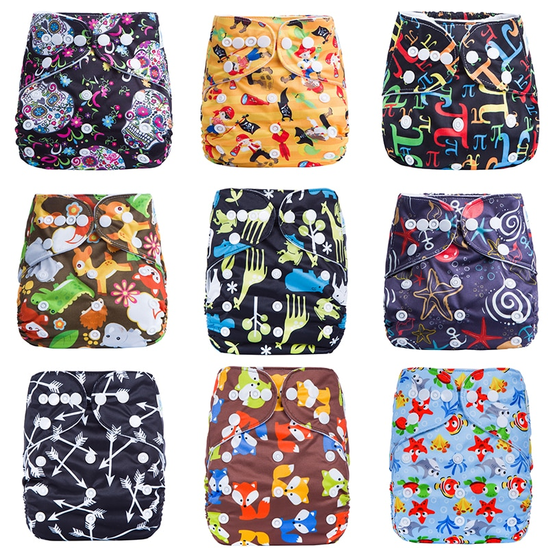 Eco-friendly Diaper Cover Wrap Washable Diapers Couches Lavables Baby Nappy Reusable Nappy Baby Pocket Cloth Diapers fashion cartoon print diaper pocket washable diapers couches lavables baby nappy reusable nappy baby cloth diapers