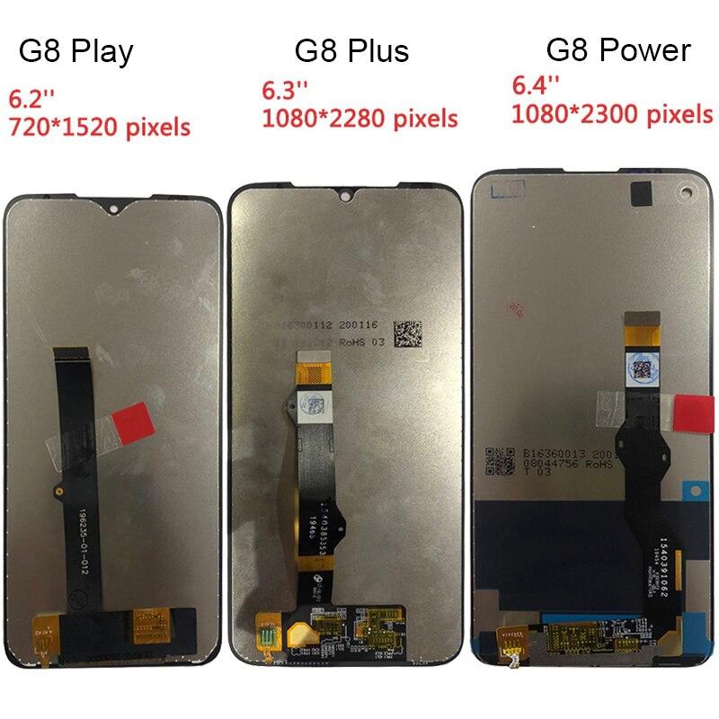 شاشة أصلية لموتورولا G8 LCD G8 Plus, شاشة LCD G8 Play LCD G8 PowerDisplay مجموعة رقمية استبدال أجزاء إصلاح
