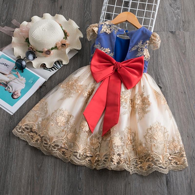 Top marca 2020 Vestido de princesa de flores para verano niños ropa...