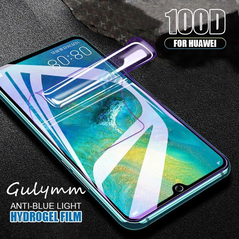 100D Защитная пленка для экрана с защитой от синего света, Гидрогелевая пленка для Huawei P30 P20 Mate 30 20 Honor 9X 20 Lite Pro