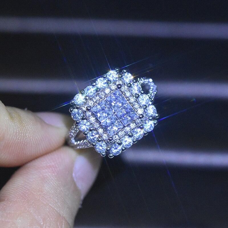 100% real s925 prata esterlina 3 quilates anel de diamante para mulher bague ou jaune anillo de prata 925 jóias diamante anel de pedra preciosa