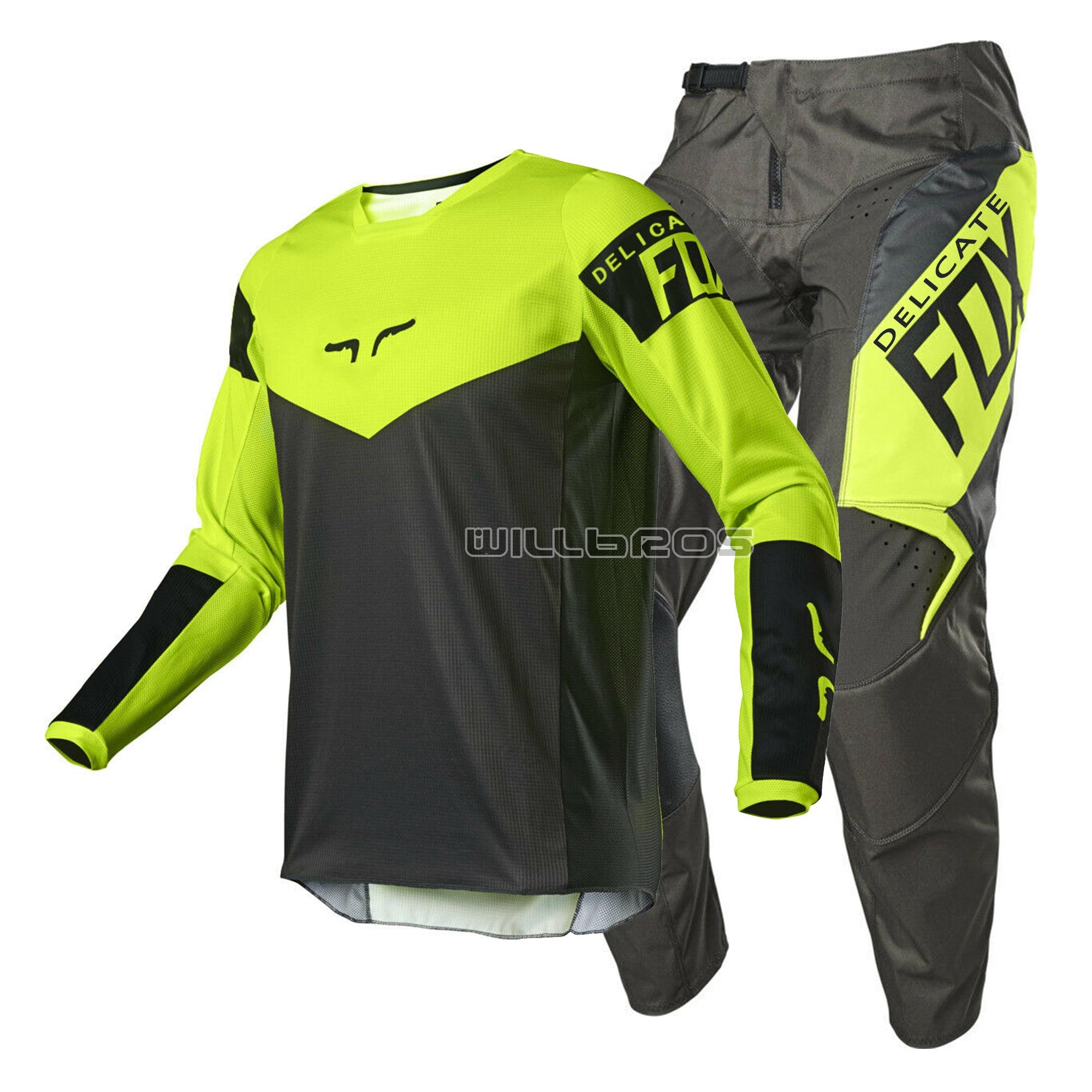 2021 raposa delicada 180 revn motocross moto mountain bike offroad equitação offroad terno dos homens kit