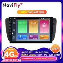 NaviFly-lecteur multimédia de voiture   Système IPS 2.5D, Android 10.0, siège Ibiza MK4 6J, SportCoupe ecomotif Cupra 2009 2010 2011 2012 2013