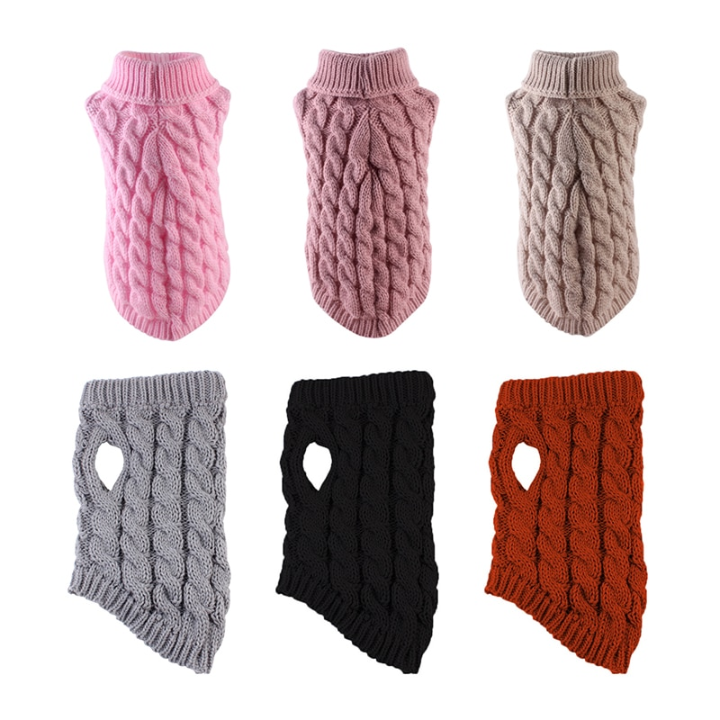 Winter Warm Dog Sweater Clothing Cat Turtleneck Knitted Pet Cat Puppy Clothes Costume For Small Dogs Cats Chihuahua Outfit Vest