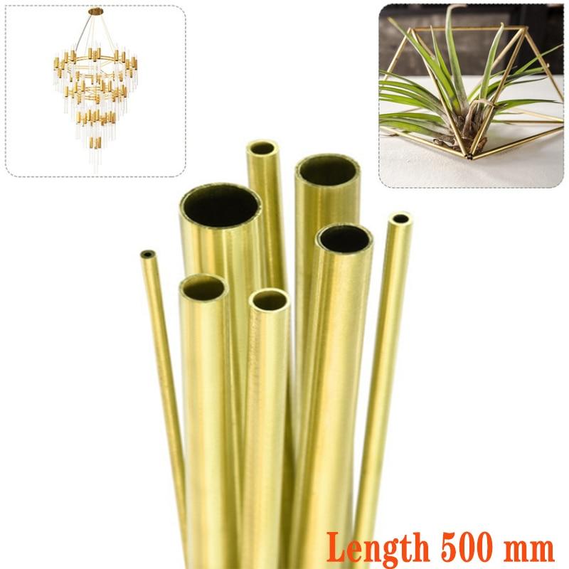 1 шт., латунные трубы диаметром 2-20 мм, Длина 500 мм, длина 0,5-2 мм, настенные латунные трубы, латунные трубы, режущий инструмент высокого качества