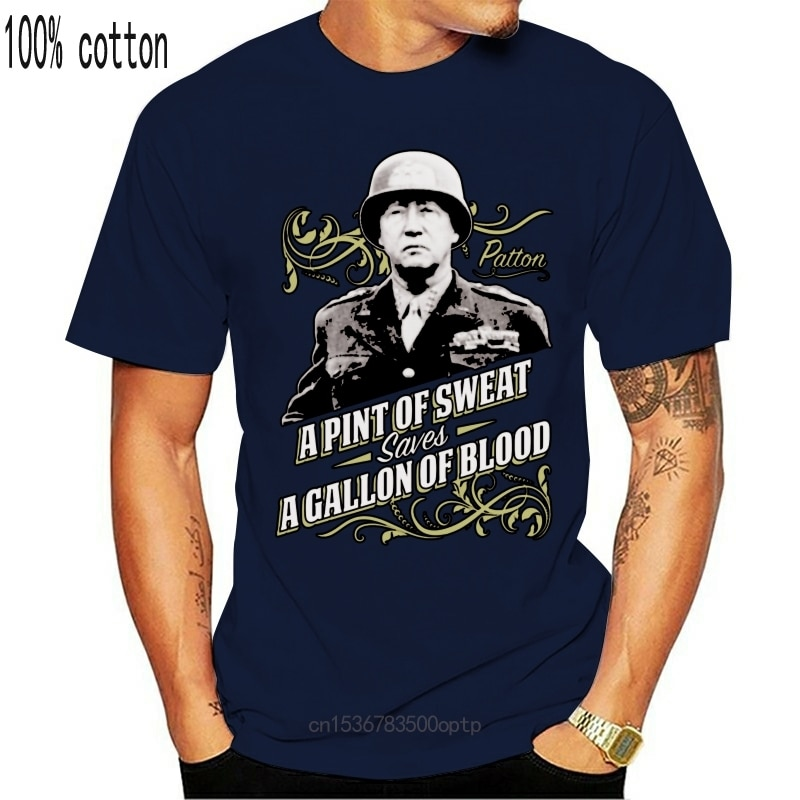 New A Pint Of Sweat Unofficial General Patton Military War Army T-Shirt Adults Kids Birthday Gift Tee Shirt