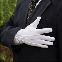 1 Pair Cotton Gloves Khan Cloth Quality Check Gloves Rituals Play White Gloves