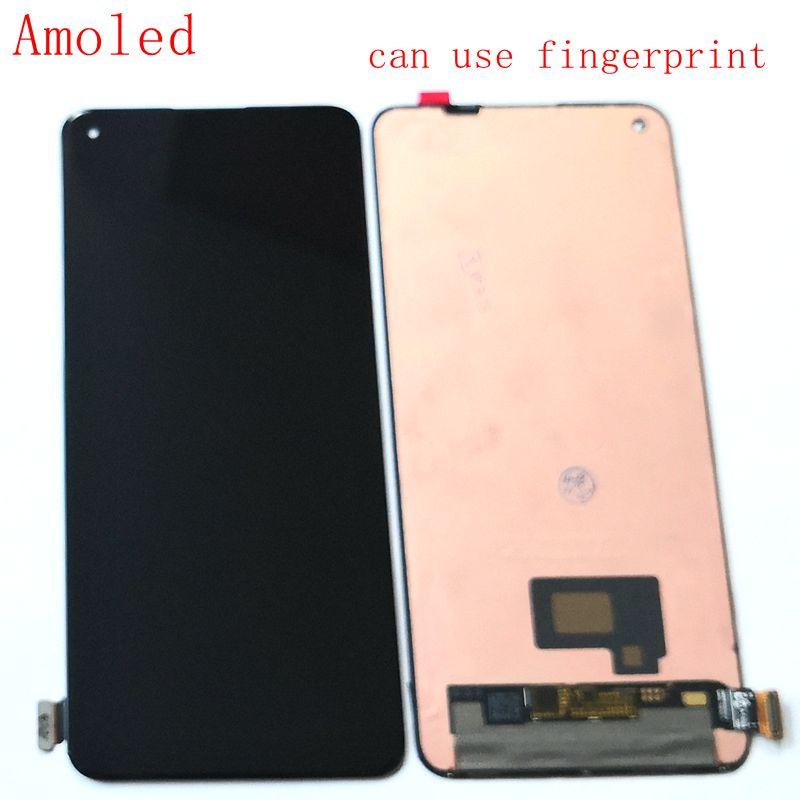 الأصلي Amoled ل Oneplus 8 8t 8 برو شاشة Lcd عرض + اللمس الزجاج محول الأرقام بانتيلا استبدال واحد زائد 8pro IN2023