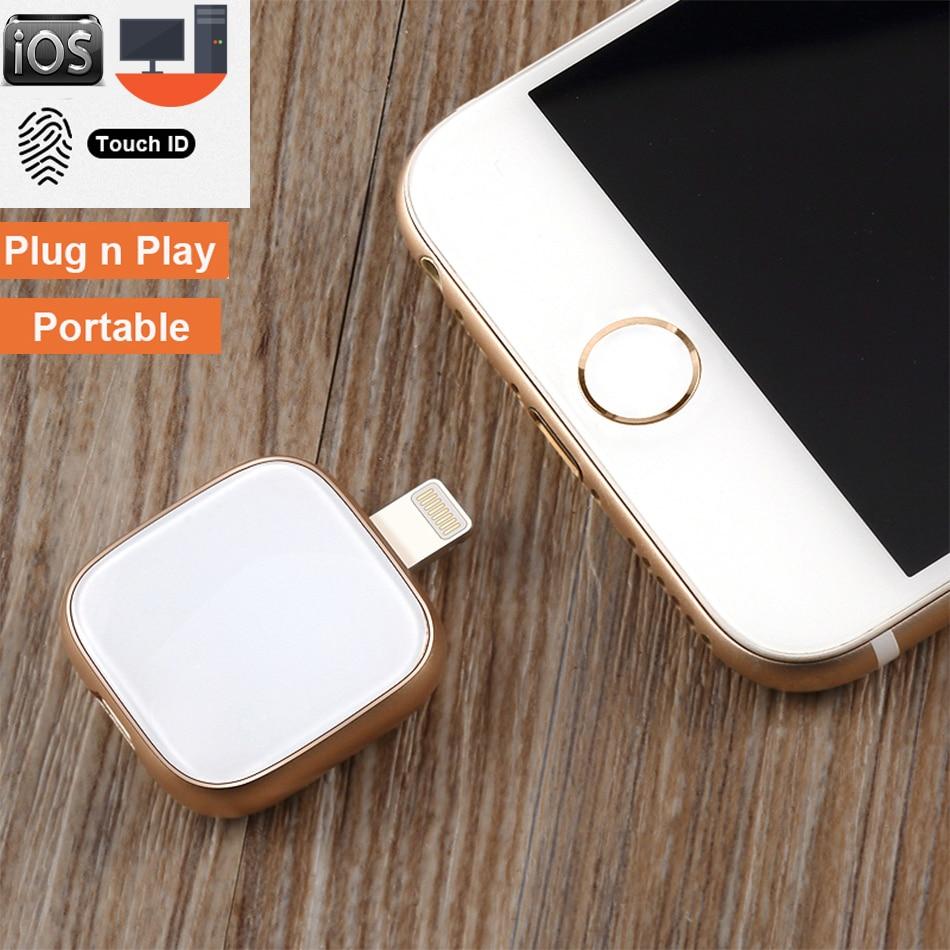 Supersónica MFI de vidrio de Metal unidad Flash Usb 32GB 64GB 128GB 256GB OTG Pen X 8 para iphone 7 Plus 6 6s Plus 5S ipad Macbook