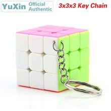 YuXin Jade Kylin porte-clés Mini 3x3x3 Cube magique ZhiSheng 3x3 vitesse Twisty Puzzle casse-tête jouets éducatifs pour les enfants