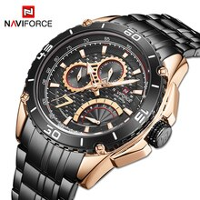 NAVIFORCE Luxury Brand Men Watch Military Sport Wrist Watches Mens Businees Steel Strap Waterproof C