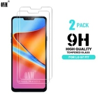 2pcs tempered glass for lg g7 fit glass screen protector 2 5d 9h premium tempered glass on the for lg g7 fit protective film