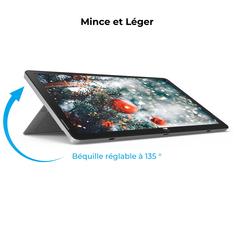 XIDU PhilPad Laptop 13.3'' 2 in 1 Tablet Touchscreen Notebook Ultra Slim Mini PC Detachable Keyboard Multi Port for Business
