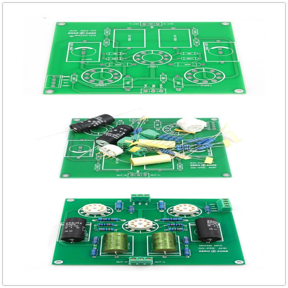 Hifi DIY Vacuum Tube Buffer Preamp board / Kit / Pcb Base on Ground Grid GG Preamplifier