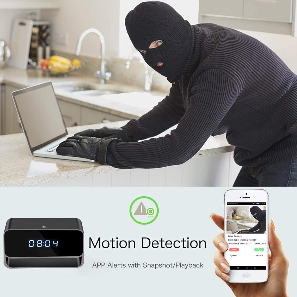 HD Clock Wifi Mini Camera Video Recorder Alarm Home Security Cam Night Vision Sensor Monitor Detect Camcorder Micro Camera enlarge