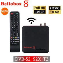 H265 TV Receiver Combo DVB T2 DVB S2  Hellobox 8  CCCamd Newcamd Set Top Box support RJ45 WiFi HEVC PowerVu Biss M3U TV Box