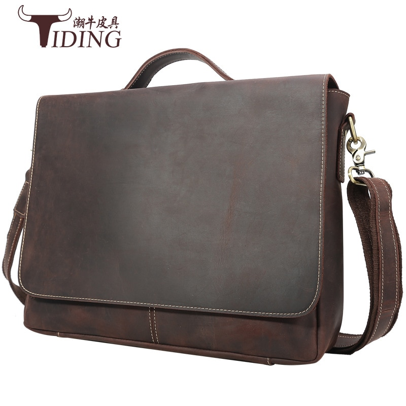 Briefcases For Man Genuine Leather 2021 Male Casual Vintage Large Fashion Travel Business Briefcase Hand 15