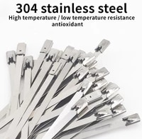 50pcs high quality 304 stainless steel metal strap 4 6mm self locking fixed pole marine strapping for householdindustrial usej