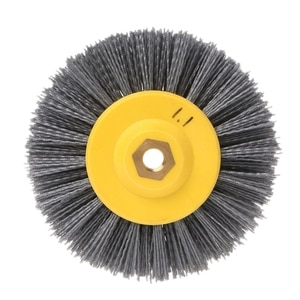 Big deal 1 piece 150x40mm x M14 P60Nylon Abrasive Wire Polishing Brush Wheel for Wood Furniture Stone Antiquing Grinding