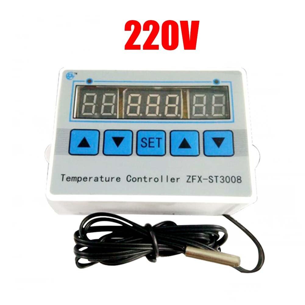 12V / 24V / 220V ZFX-ST3008 microordenador pantalla Digital controlador de temperatura ajustable duradero