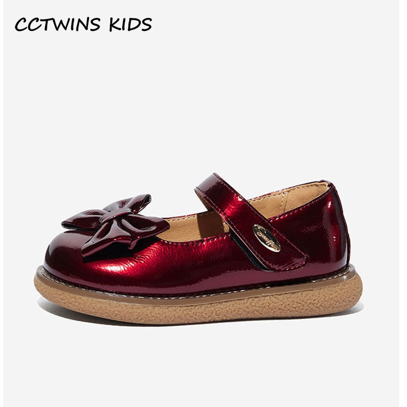 Cctwin-أحذية أطفال لربيع 2021 ، أحذية مدرسية سوداء للبنات ، أحذية مسطحة على شكل فراشة ، ماري جين ، أميرة للأطفال الصغار ، GM2777