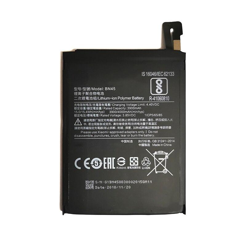 Original BN45 batería de reemplazo para Xiaomi Redmi Nota 5 Redmi note5 Redrice Note5 auténtico baterías de teléfono 4000mAh