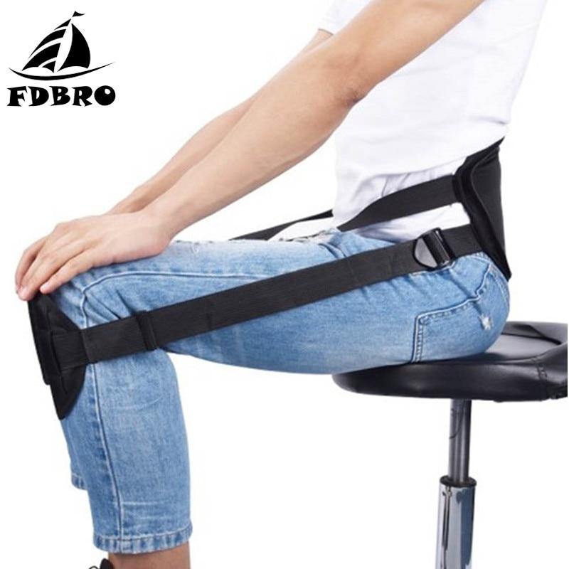 FDBRO nuevo cinturón ajustable de corrección de postura sentado cinturón de apoyo Lumbar de hombro clavícula columna vertebral cinturón Corrector de postura