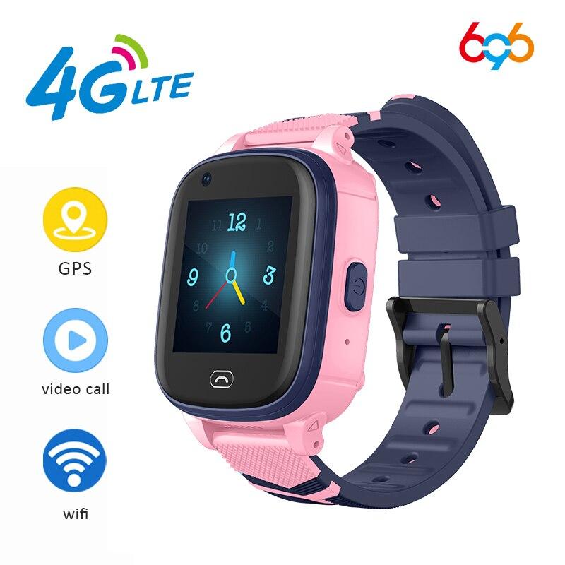 696 A60 4G Smart niños relojes WIFI reloj pulsera de Fitness con GPS conectado impermeable bebé reloj inteligente para niños