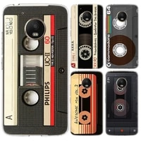 mixtape vintage magnetic silicone phone back case for motorola moto g9 g8 g7 power lite g5 g5s g6 e4 e5 plus cover
