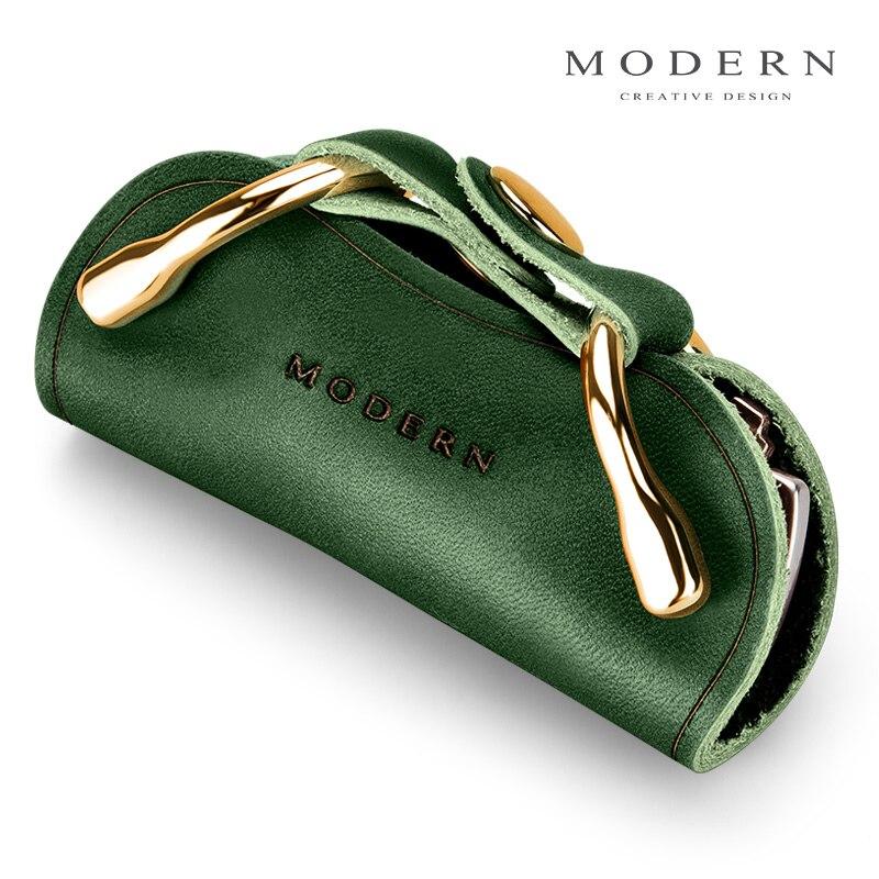 Modern - Brand Genuine Leather Key Holder Key Wallet Organizer Men Women Key Chain Keychain DIY Gear Key Smart