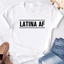 Koszulka Latina AF z nadrukiem koszulka damska na co dzień zabawna koszulka dla pani Yong koszulka dla dziewczynki Hipster t shirt