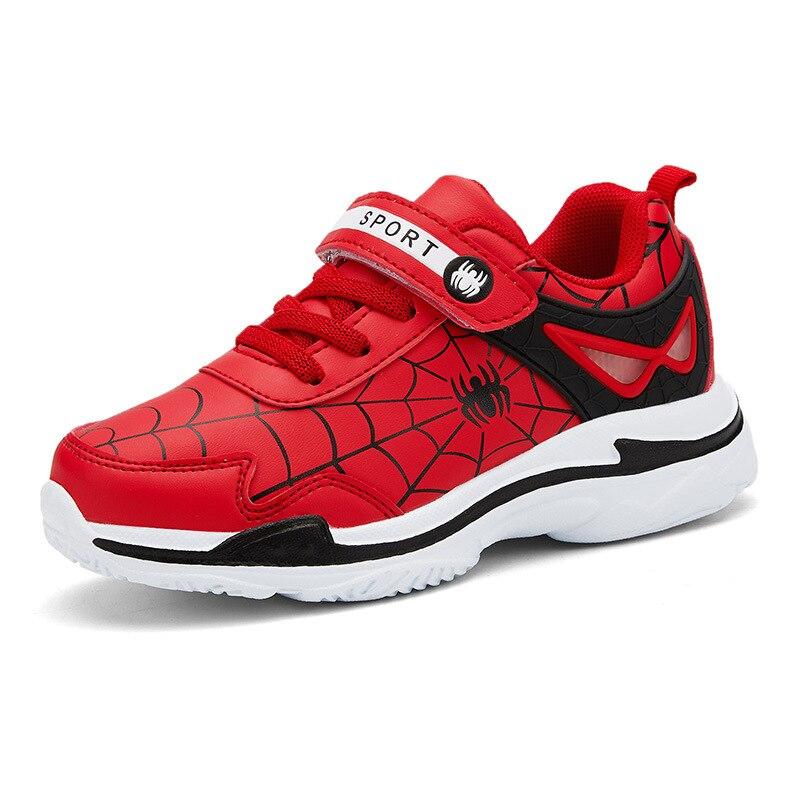 حذاء للأطفال الأولاد الربيع الرياضة Vamp تنفس احذية الجري العنكبوت