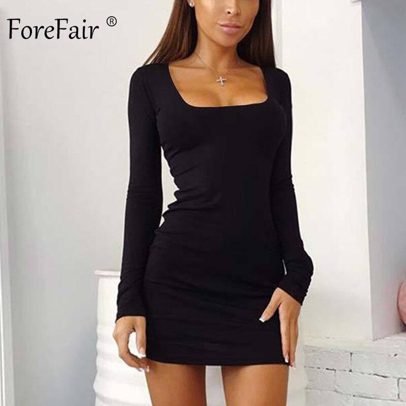 Черное Платье С Квадратным Вырезом