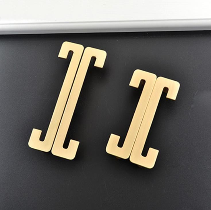 LCH nuevo estilo chino de aleación de Zinc macizo Oro pulido manija cajón tirador de puerta estilo chino media luna