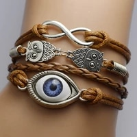 spot supply of european and american jewelry eyes multi layer men and women bracelet gifts