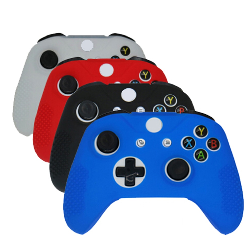 1pc Colorful Soft Silicone Rubber Skin Gamepad Protective Case Cover For Microsoft Xbox One S Controller 4 colors