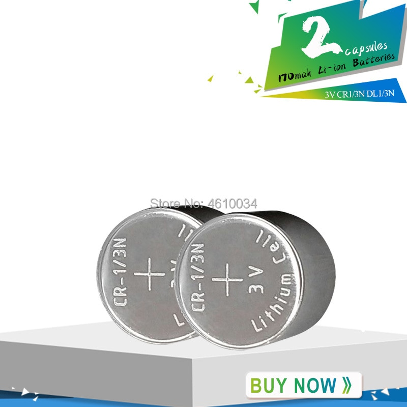 2pcs 3V M6 M7 DL-1/3N CR13N CR1/3N 3V CR-1/3N Button Battery 170mAh high-discharge high current Batteries