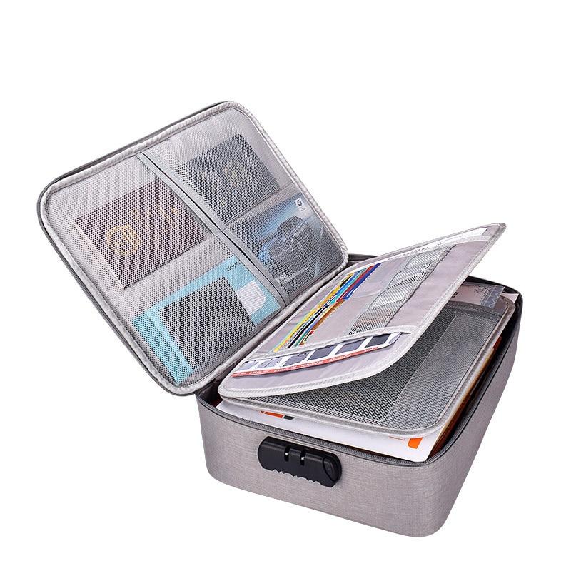 A4 lockable folder, multifunctional storage product, large file bag, 6-layer large file bag, sorting box.