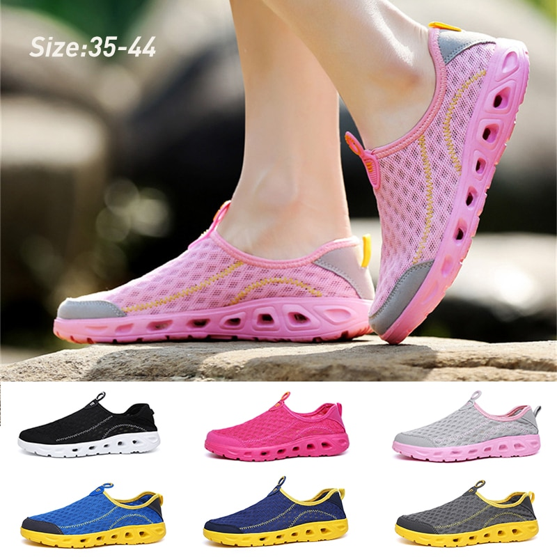 Summer Aqua Shoes Unisex Water Outdoor Lightweight Fashion Mesh Breathable Quick-dry Slip on Sports