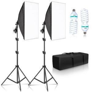Фон для фотосъемки софтбокс 50х70см светильник ing Наборы Профессиональное освещение светильник Системы с E27 фотографические лампы оборудование для фотостудии