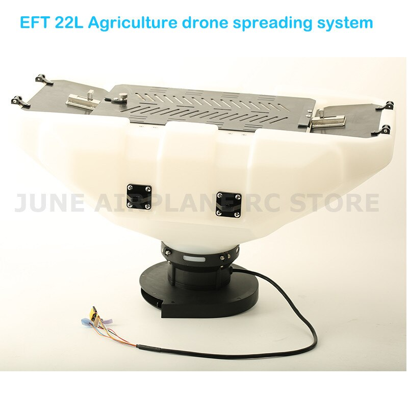 Eft diy 22l agricultura zangão sistema de espalhamento semente fertilizante isca partícula espalhamento equipamentos para e410 e610 e616